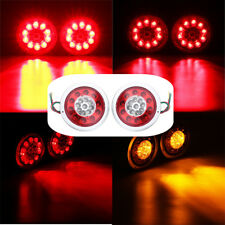 "2X 4.3"" Inch Round Car Truck Trailer Lorry Brake Tail Light Indicator Stop Lamp"