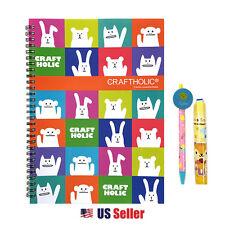 CRAFTHOLIC School Supply Stationary Gift Set Notebook Pencil Eraser : Animals