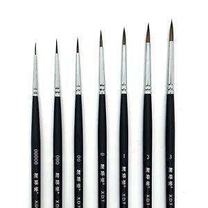 XDT#725 Micro Tip Liner Artist Paint Brush Model Nail