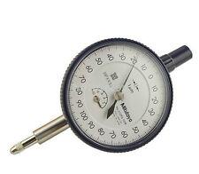 Mitutoyo 2109SB-10 Dial Indicator, M2.5X0.45 Thread, 8mm Stem Dia., Flat Back