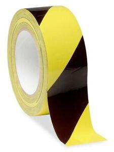 PVC Bodenmarkierungsband Warnband selbstklebend 50 mm x 27,5 m in schwarz gelb