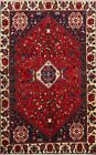 Excellent Vintage Tribal Abadeh Area Rug Geometric Hand-knotted Oriental 3x5 ft