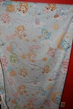 VINTAGE CARE BEARS TWIN FITTED BOTTOM BED SHEET FABIRC AMERICAN GREETINGS 1980's