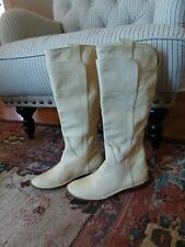 FRYE Riding Boots Banana Yellow  Leather Pull On Women's Size 5.5 B Flats