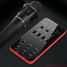 KQ_ External Audio Microphone Universal Live Broadcast Sound Card for iOS Androi