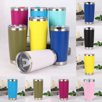 US New 20oz Stainless Steel Vacuum Tumbler Insulated Travel Coffee Mug Cup Flask