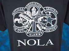 vintage 80s Nola Outlaw & Lawman History T-Shirt Medium cowboy wild west thin