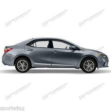 For: TOYOTA COROLLA; Body Side Moldings Mouldings Lower Chrome 2014-2017