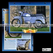#026.07 Fiche Moto MONET & GOYON PULLMAN 125 W1 1956-159 Classic Motorcycle Card