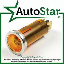 Luz de advertencia color ámbar Bisel Cromado 12 V 12 V DASH KIT CAR Clásico Indicador