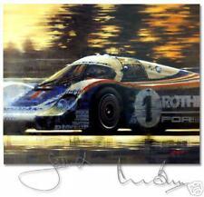 Rothmans Porsche Signed Bell Ickx Le Mans 1982 Juan C Ferrigno Limited Edition