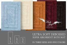 Archangel Ultra Soft Debossed Solid Bath Mat Super Absorbent Rug Latex Backing