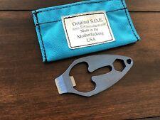 Jeremy Horton Titanium Clam Master 5000 EDC Pry Tool Bottle Opener