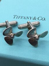 Tiffany & Co Silver Propeller Boat Cuff Link Cufflink Rare Chris Craft