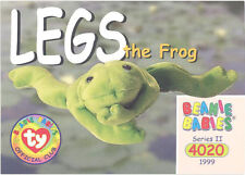 Ty Beanie Babies Bboc Card - Series 2 Common - Legs the Frog - Nm/Mint