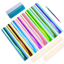 """Holographic Vinyl Permanent Adhesive Backed 12 x 12"""" PVC Craft Sheets for Cricut"""