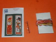 kit 2 canevas noël (père noël, bonhomme de neige), taille 20x6cm