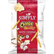 Simply Cheetos Crunchy, White Cheddar, 8.5 Ounce (4 Bag)