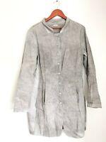 Annette Gortz Women's Size 40 Small Beige Coat Button Up Slash Pockets Jacket