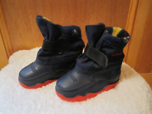 Unisex Boys Girls LL BEAN Toddler Rain Snow Boots Rubber & Fleece 6