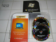 Microsoft Windows 7 Ultimate Full 32 Bit and 64 Bit DVDs MS WIN =RETAIL BOX=