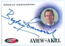 """BOGDAN KOMINOWSKI """"KLOTKOFF AUTOGRAPH A164"""" JAMES BOND MISSION LOGS"""