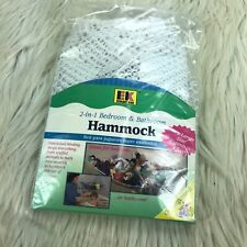 New Ecology Kids 2-in-1 Bedroom & Bathroom Hammock Toy Plush Storage Mesh