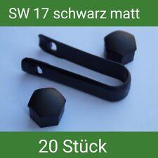 Radschrauben Radschraubenkappen Abdeckungen SW 17 schwarz matt
