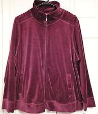 NEW YORK LAUNDRY (NYL) Woman's Cranberry Velour Jacket...1X...NWT