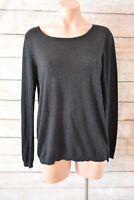 ESPRIT jumper top sz large 12 14 black lightweight knit