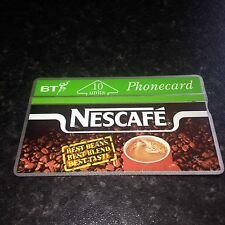 BRITISH TELECOM PHONECARD BT PHONE CARD Rare NESCAFE Coffee Advert 10 Units