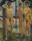 Edvard Munch Naked Men In A Landscape Print 11 x 14   #8919