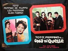 FOTOBUSTA CINEMA - TOTÒ, PEPPINO E UNA DI QUELLE - TOTÒ - 1953 - DRAMMATICO -01