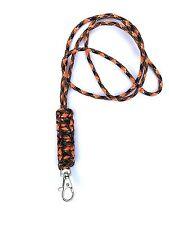 Cobra Stitch Design Dog Whistle Lanyard - Orange & Black Camo - For ACME Whistle