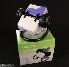 Rotary card index system with 250 cards - 90 x 50mm Rolodex rotating Rotamate