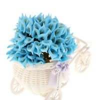 Pack 144 Real Touch Artificial Flower Calla Lily Wedding Home Decor Blue