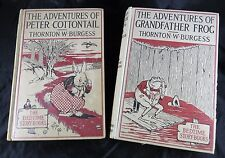 Bedtime Story Books Peter Cottontail 1938 & Grandfather Frog 1939 Adventure