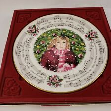 Royal Doulton England Christmas Carols Silent Night Plate 1983 #1 in series