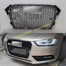 RS4 Front Euro Sport Chrome / Black Grille For Audi A4 B8.5 S4 SFG 2013-2015 AU