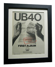 UB40+SIGNING OFF+POSTER+AD+RARE ORIGINAL 1980+FRAMED+EXPRESS GLOBAL SHIPPING