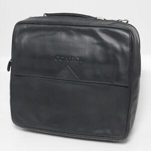 Goldpfeil Contax Ledertasche Schwarz Leather bag black