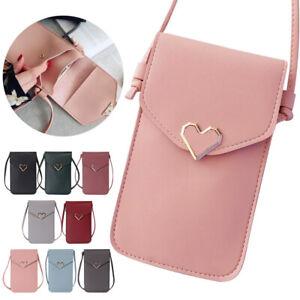 Women PU Handbag Mini Purse Wallet Pouch Phone Messenger Crossbody Shoulder Bags