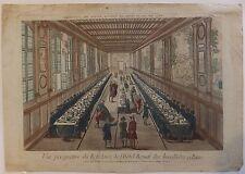Vue d'optique Perspective du réfectoire de l'Hôtel Royal des Invalides à Paris