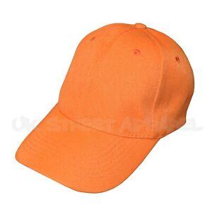 NEW Mens Orange Adjustable Baseball Cap