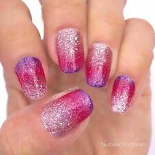 mani3LColorStreet NUCLEAR FUCHSIAN Dry Nail Polish BRAND NEW Glitter Pink Purple
