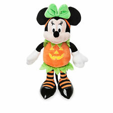 "Disney Store Authentic Minnie Mouse Halloween Pumpkin Costume Plush Toy 15"" Doll"