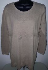 Two Hearts Maternity Womens Brown Sweater Top Size L