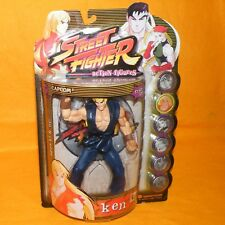 1999 RESAURUS CAPCOM STREET FIGHTER ROUND ONE KEN FIGURE MOC CARDED PLAYER 2