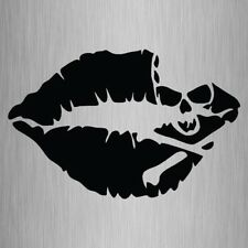 Skull And Crossbones Kiss Sticker Lips Vinyl Car Laptop Decal 155mm x 100mm