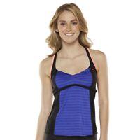 NEW Nike Womens Colorblock Color Surge Tankini Top Bikini Swimsuit 8 S M 8 L 3X